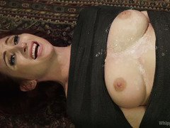 Gorgeous redhead slave has to submit to stunning blonde mistress horny demands