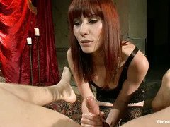 Stunning mistress owns handsome stud and he has to abide by her lusty kinky rules