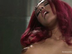 Stunning Daisy Ducati casts a magical spell on a bunch of horny studs