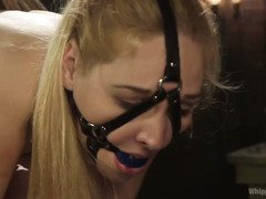 Demanding blonde mistress only objective is to see her lovely fuck slave suffers