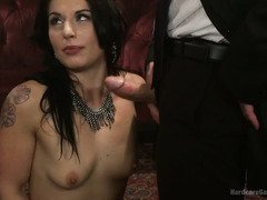 Gorgeous newbie receives raucous gangbang in exchange for a poker lesson
