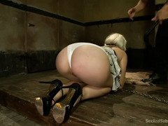 Master is drilling gorgeous blonde roughly as he needs a committed slave