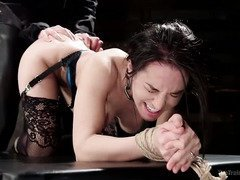 Pretty slave moans too much and must be punished in order to be trained properly