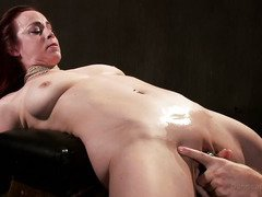 Busty redhead achieves multiple orgasms from master's relentless punishment