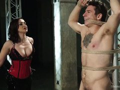 Stud must think of panties when he is being punished by a smoking hot mistress