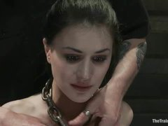 A masochistic cutie gets trained to cum on demand