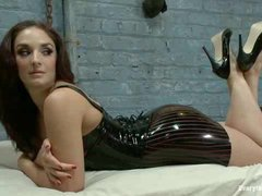 A fervent brunette gets her juicy ass banged and punished