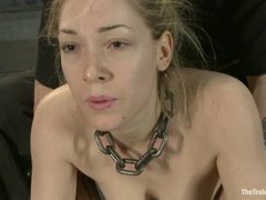 Lily LaBeau overloaded with pain during rough feet and tit torture
