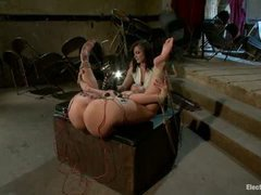 Kelly Divine gets her amazing ass violated by big electro toys
