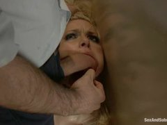 A hot blonde gets tied and punished for a car accident