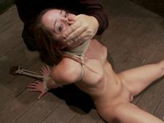 A submissive cutie takes skull fucking and pussy torture