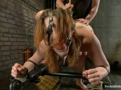 A lusty bondage slut gets her tight ass fucked rough