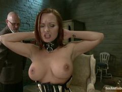 A submissive wife banged by her perverted husband and his colleague