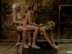 two beautiful slim blondies are dominated by Lorelei Lee