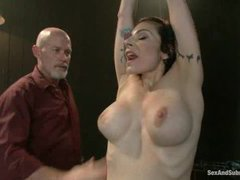 The very sexy lifestyle submissive Annika does her first boy/girl sex scene with Mark Davis!