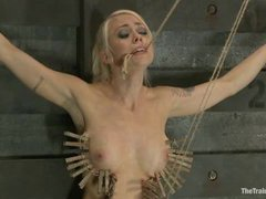 famous Lorelei Lee is restrained, her perfect tits tortured and she's made to cum