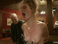 a great interesting party-orgy action with a lot of slaves, debauchery and sexuality