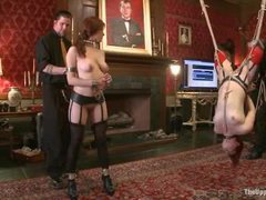 two slaves are trained till they orgasm in a wonderful harmony