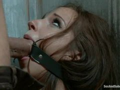a beautiful young girlfriend of a mobster gets caught and punished