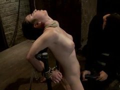 an amateur brunette tries forced orgasms in bondage for the first time