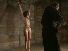aned, nipple torture and brutal crotch rope for a tiny lady
