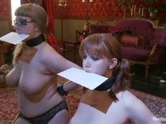 Two sexy slave girls overloaded with orgasms and punishments
