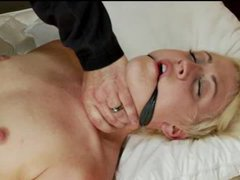 A sexy blonde brought to multiple screaming orgasms
