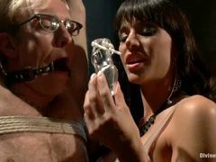 Gia DiMarco teasing and denying her male chastity slave
