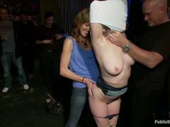 Cherry Torn gets tied up and disgracefully fucked in a bar