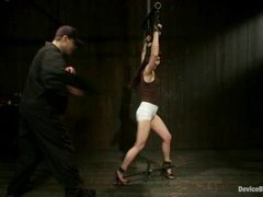 A new asian girl learns to control orgasms in strict bondage