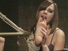 An eager slut endures intense and beautiful lesbian domination