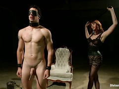 Stunning mistress gives handsome hunk an unforgettable and rough punishment