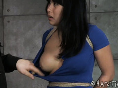 Busty Asian achieves multiple orgasms from master's painful yet enjoyable punishment