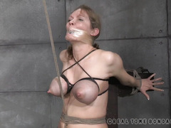 Gorgeous babe experiences one of the most difficult bondage experiences in her life