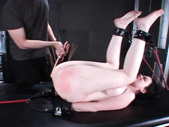 BDSM sex slave gets big ass spanked hard