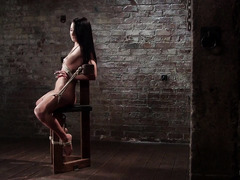 Lovely beauty squirted wildly from master's rough and tenacious punishment