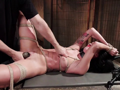 Hot slave is thankful for her members' merciless punishment and training