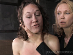 Lusty brunette slave apologizes after receiving harsh and kinky punishment