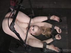 Excruciatingly painful and hard punishment for submissive blonde sweetheart