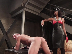 Ebony mistress only needs loyalty and discipline from handsome white stud