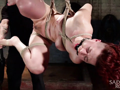 Excessive and painful punishment for bounded redhead chick