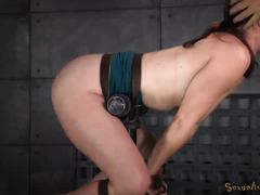 Non-stop ferocious doggystyle drilling for beautiful curvaceous brunette