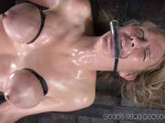 Crying mature blonde could not stop screaming from her kinky tormentation
