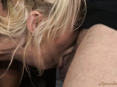 Uncouth deepthroating and wicked pussy pounding for beautiful big boobs blonde