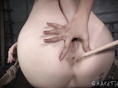Gorgeous brunette has to earn her orgasms the hard way from hot blonde mistress