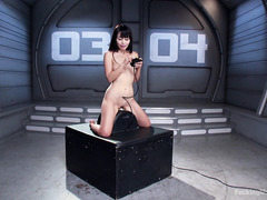 Japanese sweetheart gets her pussy totally sated from playing with the machines