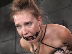 Having tormented blonde beauty screaming wildly fills black master with joy