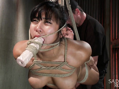 Big boobs Asian could not stop the flow of orgasms from her raucous punishment