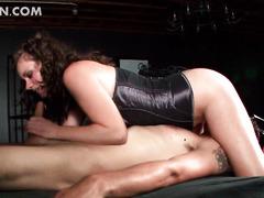 Face sitting mistress biting jizz loaded shaft