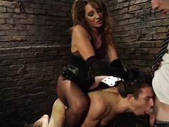 Pretty brunette wants to make a kinky video with her pathetic boyfriend